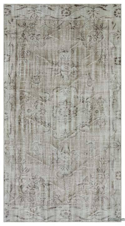 Boyalı El Dokuma Vintage Halı - 150 cm x 281 cm
