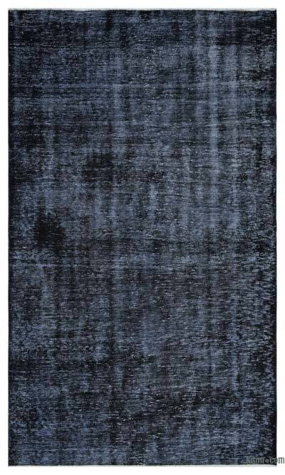 """Over-dyed Turkish Vintage Rug - 5'3"""" x 8'8"""" (63 in. x 104 in.)"""
