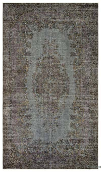 """Over-dyed Turkish Vintage Rug - 5'9"""" x 9'11"""" (69 in. x 119 in.)"""