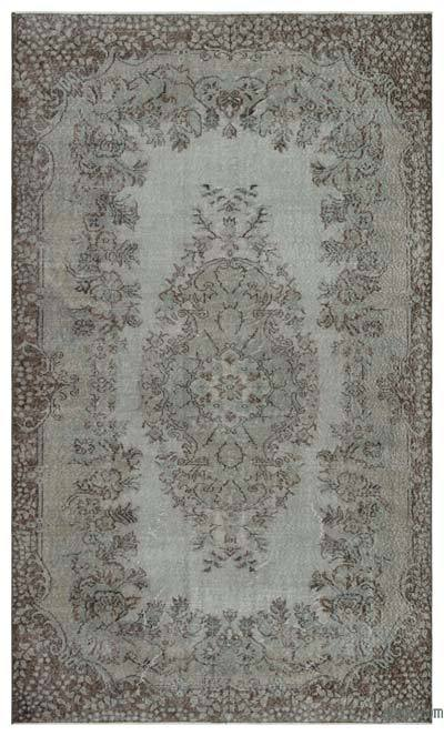 """Over-dyed Turkish Vintage Rug - 5' 8"""" x 9' 6"""" (68 in. x 114 in.)"""