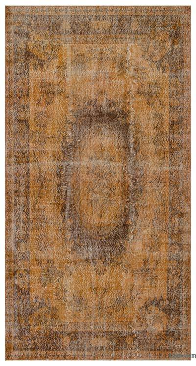 "Over-dyed Turkish Vintage Rug - 5'6"" x 10'4"" (66 in. x 124 in.)"