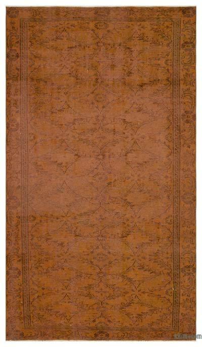 Boyalı El Dokuma Vintage Halı - 164 cm x 278 cm