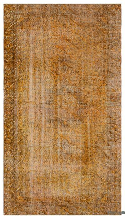 """Over-dyed Turkish Vintage Rug - 5'3"""" x 9'1"""" (63 in. x 109 in.)"""
