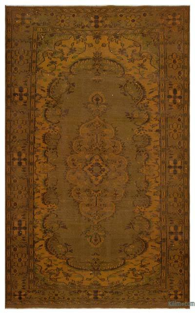 "Over-dyed Turkish Vintage Rug - 5'8"" x 9'4"" (68 in. x 112 in.)"