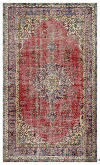"""Turkish Vintage Area Rug - 5'4"""" x 9'1"""" (64 in. x 109 in.)"""