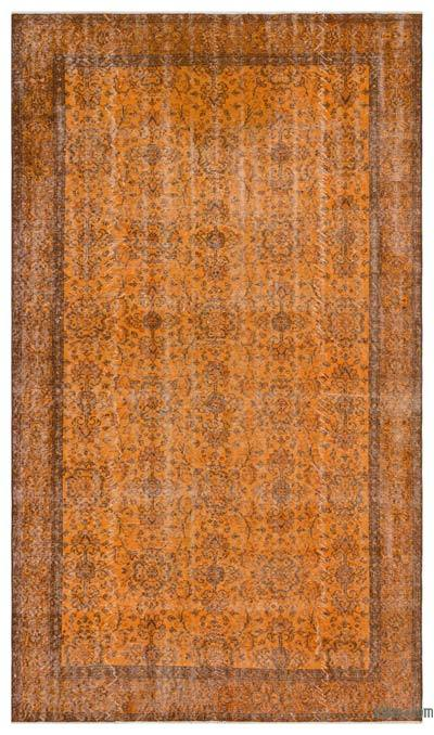 "Over-dyed Turkish Vintage Rug - 5'5"" x 9'6"" (65 in. x 114 in.)"