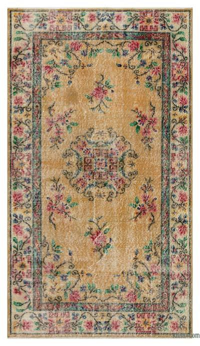 """Turkish Vintage Area Rug - 3'10"""" x 6'9"""" (46 in. x 81 in.)"""