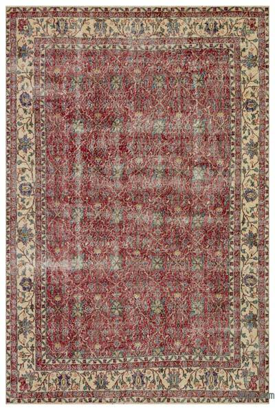 """Turkish Vintage Area Rug - 7'2"""" x 10'6"""" (86 in. x 126 in.)"""