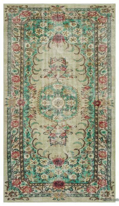"""Turkish Vintage Area Rug - 4'10"""" x 8'8"""" (58 in. x 104 in.)"""