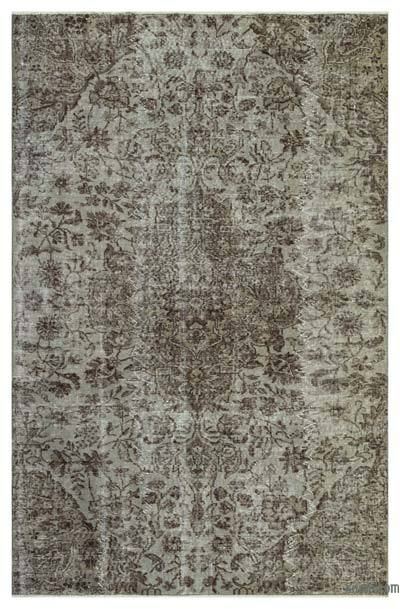 "Over-dyed Turkish Vintage Rug - 4'11"" x 7'9"" (59 in. x 93 in.)"