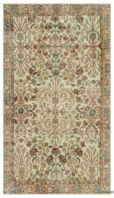 "Turkish Vintage Area Rug - 4' 10"" x 8' 6"" (58 in. x 102 in.)"