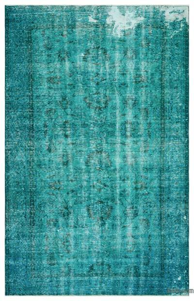 """Over-dyed Turkish Vintage Rug - 5' 11"""" x 9' 2"""" (71 in. x 110 in.)"""