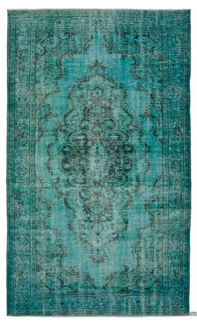 """Over-dyed Turkish Vintage Rug - 5' 10"""" x 9' 9"""" (70 in. x 117 in.)"""