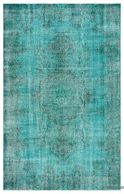 "Over-dyed Turkish Vintage Rug - 5'6"" x 8'8"" (66 in. x 104 in.)"