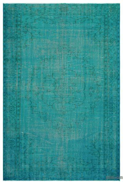 "Over-dyed Turkish Vintage Rug - 5' 11"" x 9' 2"" (71 in. x 110 in.)"