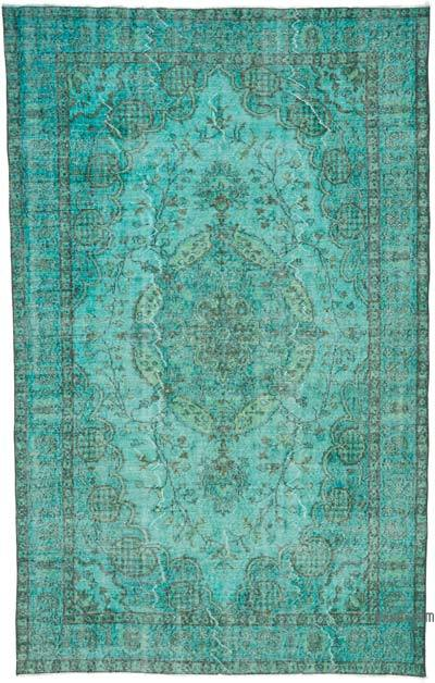 "Over-dyed Turkish Vintage Rug - 5' 8"" x 9'  (68 in. x 108 in.)"