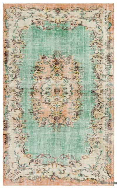 """Turkish Vintage Area Rug - 5'8"""" x 9'5"""" (68 in. x 113 in.)"""