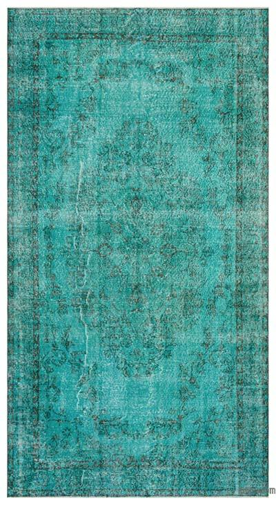 "Over-dyed Turkish Vintage Rug - 5'7"" x 10'2"" (67 in. x 122 in.)"
