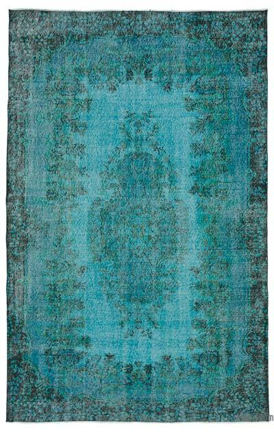 "Over-dyed Turkish Vintage Rug - 6'  x 9' 4"" (72 in. x 112 in.)"