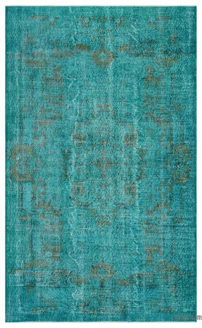 Alfombra Turca Vintage Sobre-teñida - 173 cm x 276 cm