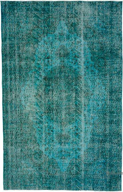 """Over-dyed Turkish Vintage Rug - 5' 5"""" x 8' 7"""" (65 in. x 103 in.)"""