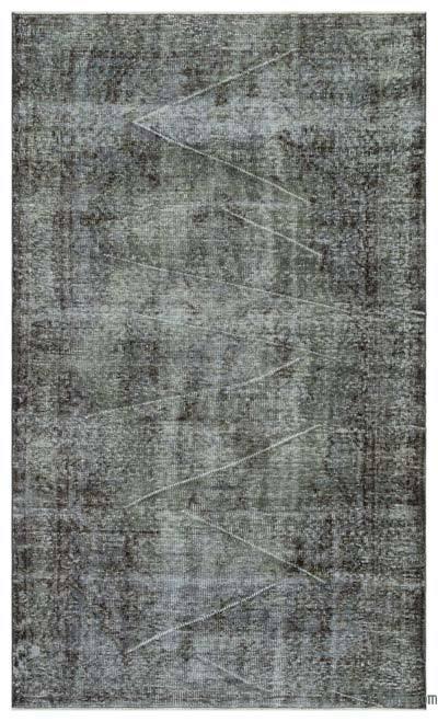 Boyalı El Dokuma Vintage Halı - 167 cm x 277 cm