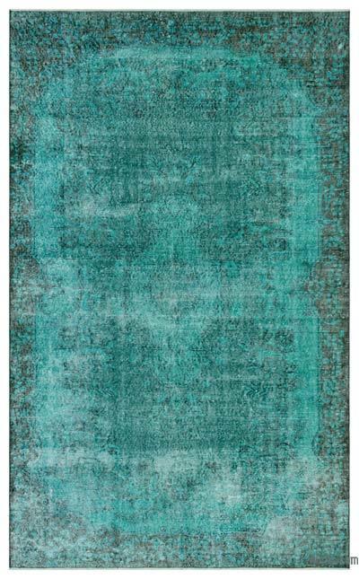 Boyalı El Dokuma Vintage Halı - 174 cm x 281 cm