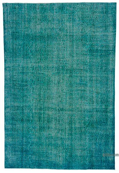 "Over-dyed Turkish Vintage Rug - 7'1"" x 10'6"" (85 in. x 126 in.)"