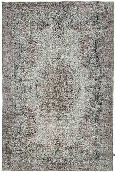 Boyalı El Dokuma Vintage Halı - 188 cm x 284 cm