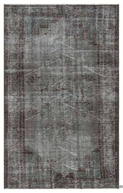 Boyalı El Dokuma Vintage Halı - 138 cm x 218 cm