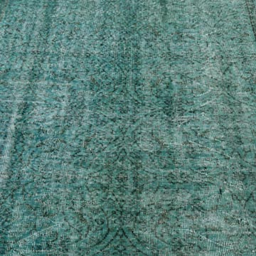"""Over-dyed Turkish Vintage Rug - 5' 5"""" x 8' 8"""" (65 in. x 104 in.) - K0044103"""