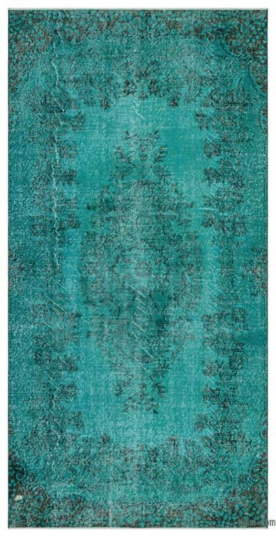 Boyalı El Dokuma Vintage Halı - 150 cm x 302 cm
