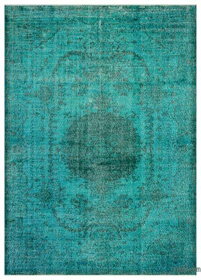 """Over-dyed Turkish Vintage Rug - 6'5"""" x 9'1"""" (77 in. x 109 in.)"""