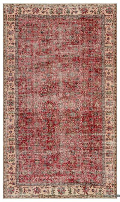 """Vintage Turkish Hand-Knotted Rug - 5' 5"""" x 9' 1"""" (65 in. x 109 in.)"""