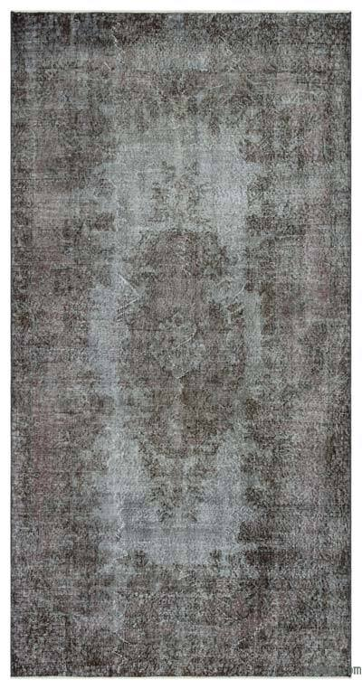 """Over-dyed Turkish Vintage Rug - 4' 10"""" x 9' 8"""" (58 in. x 116 in.)"""