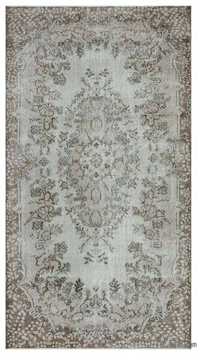 """Over-dyed Turkish Vintage Rug - 4' 11"""" x 9' 1"""" (59 in. x 109 in.)"""