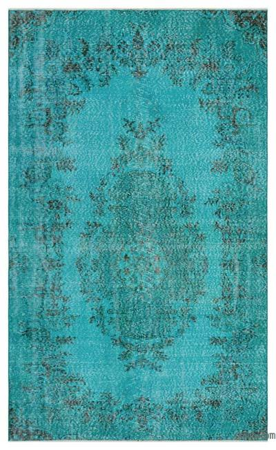"""Over-dyed Turkish Vintage Rug - 4'8"""" x 7'10"""" (56 in. x 94 in.)"""
