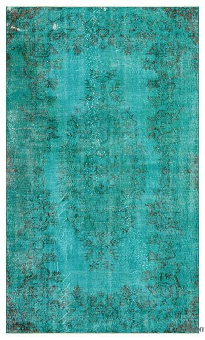 "Over-dyed Turkish Vintage Rug - 5' 1"" x 8' 4"" (61 in. x 100 in.)"