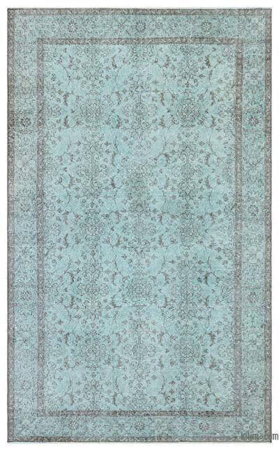 "Over-dyed Turkish Vintage Rug - 5' 5"" x 8' 10"" (65 in. x 106 in.)"