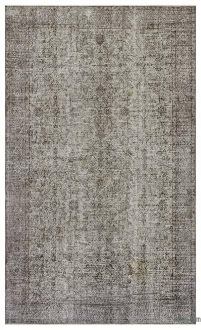 Boyalı El Dokuma Vintage Halı - 172 cm x 276 cm