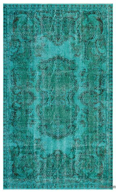 """Over-dyed Turkish Vintage Rug - 5' 2"""" x 8' 9"""" (62 in. x 105 in.)"""