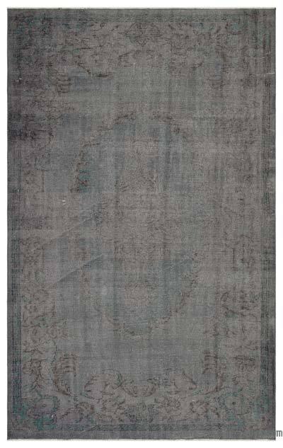 Boyalı El Dokuma Vintage Halı - 170 cm x 271 cm