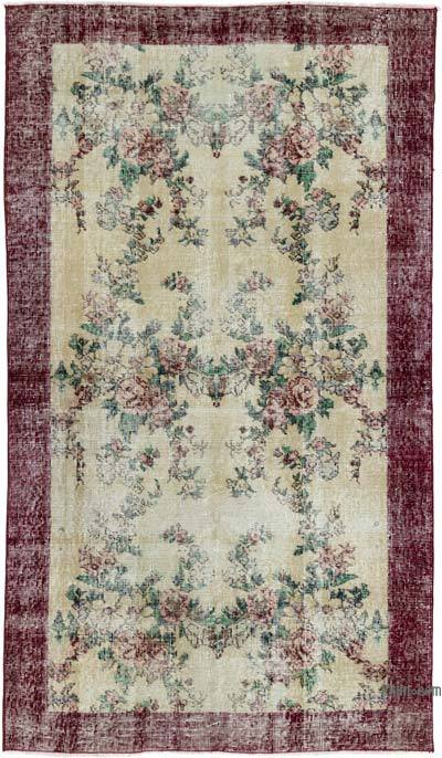 """Turkish Vintage Area Rug - 3'9"""" x 6'7"""" (45 in. x 79 in.)"""