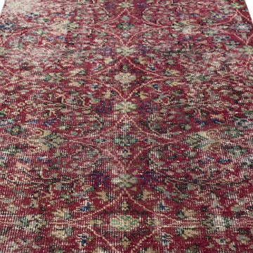 """Vintage Turkish Hand-Knotted Rug - 3' 7"""" x 6' 6"""" (43 in. x 78 in.) - K0044151"""