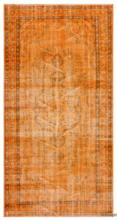 "Over-dyed Turkish Vintage Rug - 4'6"" x 8'7"" (54 in. x 103 in.)"