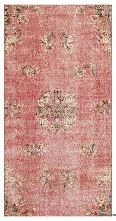 "Turkish Vintage Area Rug - 4' 1"" x 8'  (49 in. x 96 in.)"