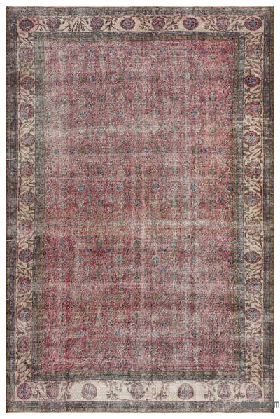 """Turkish Vintage Area Rug - 7' 2"""" x 10' 7"""" (86 in. x 127 in.)"""