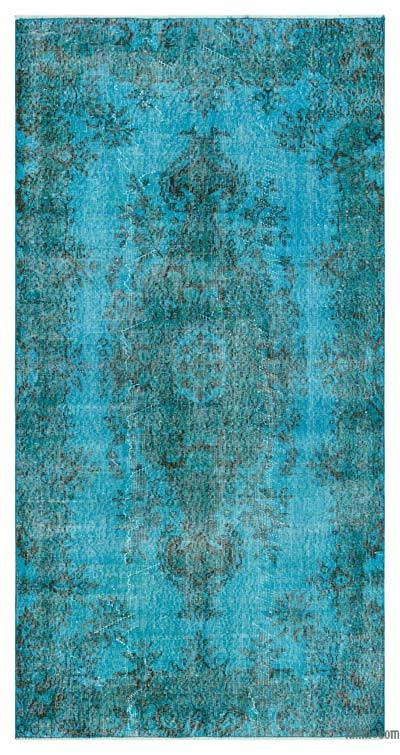 "Over-dyed Turkish Vintage Rug - 3'9"" x 7'3"" (45 in. x 87 in.)"