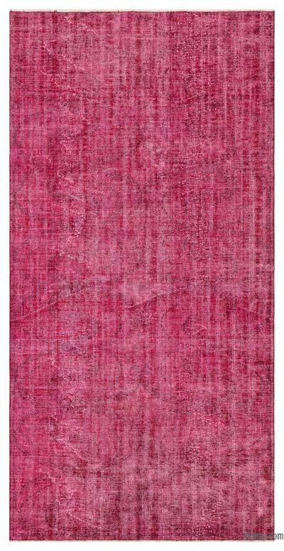 "Red Over-dyed Turkish Vintage Rug - 4' 5"" x 8' 8"" (53 in. x 104 in.)"