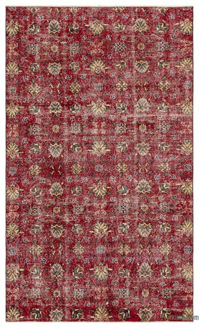 """Vintage Turkish Hand-Knotted Rug - 5' 2"""" x 8' 6"""" (62 in. x 102 in.)"""
